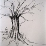 Imagined Tree - pen drawing