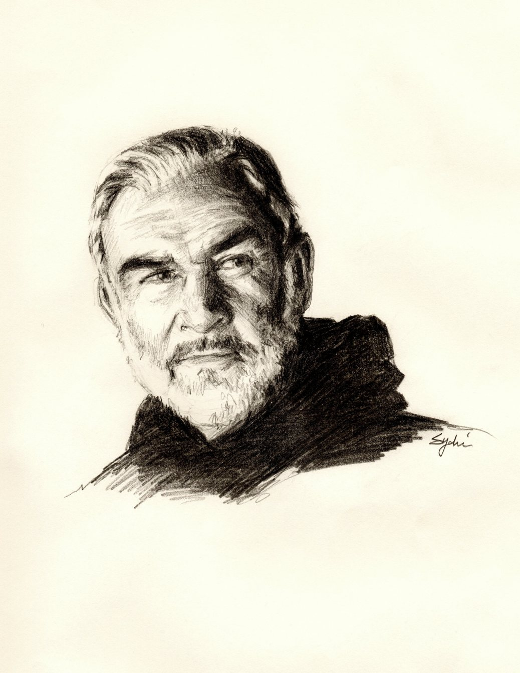 Sean Connery - pencil, 2013