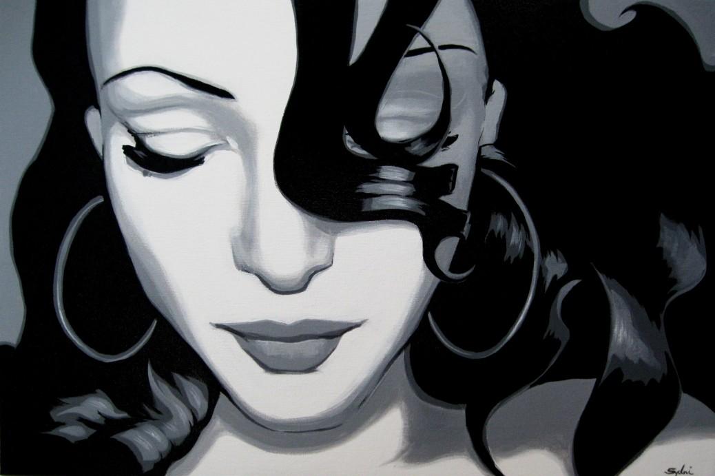 Sade - commission, acrylic on canvas, 22x30, 2013