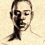 Portrait Sketch - ink on toned paper, 2014