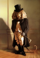 Lion with a Top Hat (Oatley Academy) - digital painting, 2014