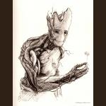Groot - inktober drawing, 2014