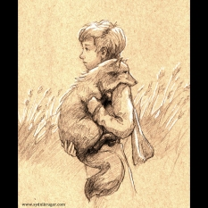 The Little Prince (Le Petit Prince) [Sketch_Dailies] - pencil on toned paper, 2015