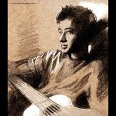 Jyotishman - Portrait sketch request - pencil and white ink, 2015