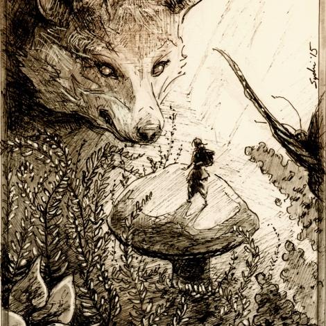 Inktober story - https://sydnikruger.com/sketchbook/inktober-2015/
